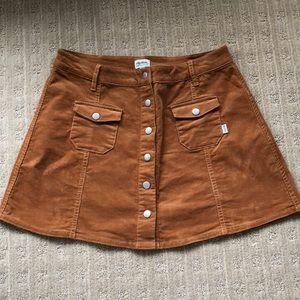 Rhythm button front mini skirt